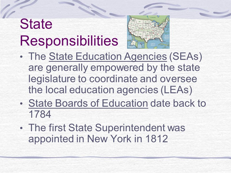 State Responsibilities