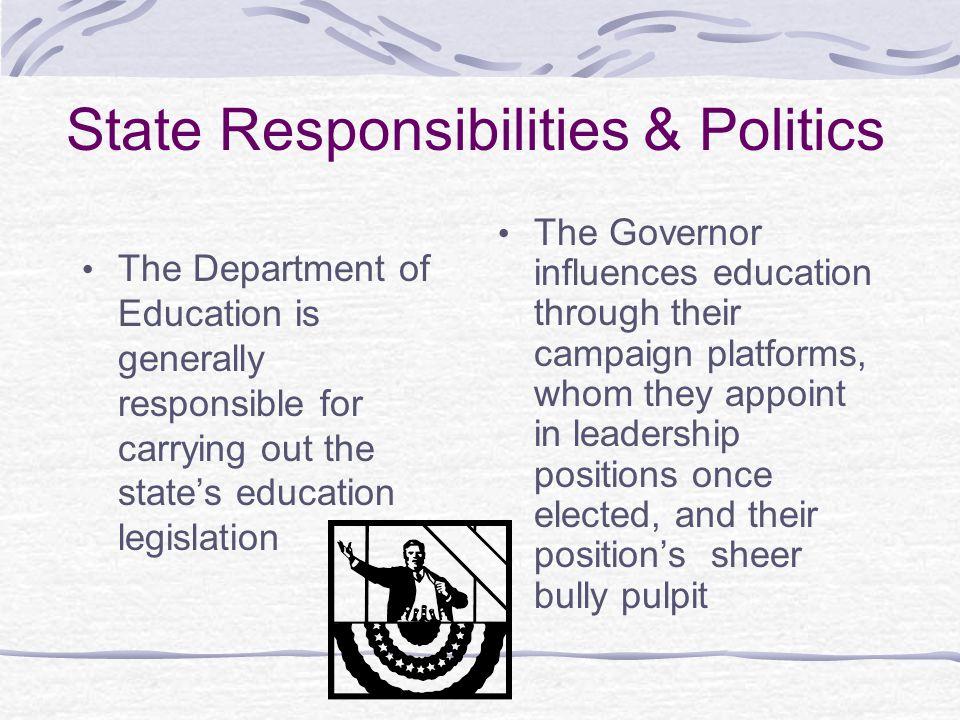 State Responsibilities & Politics