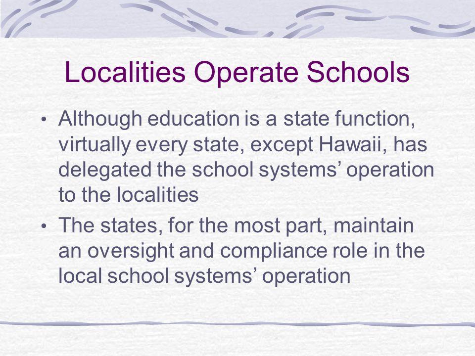 Localities Operate Schools