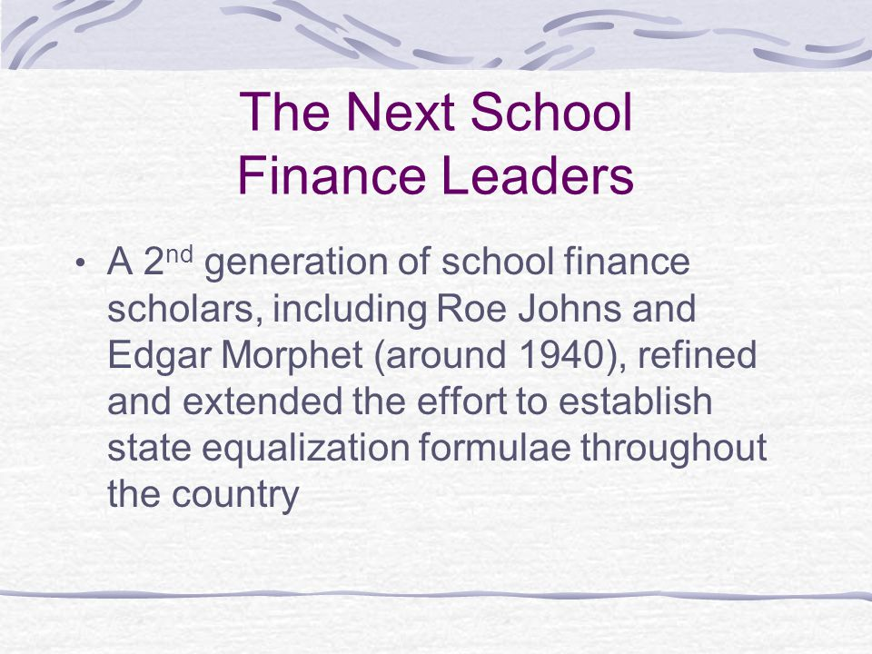 The Next School Finance Leaders