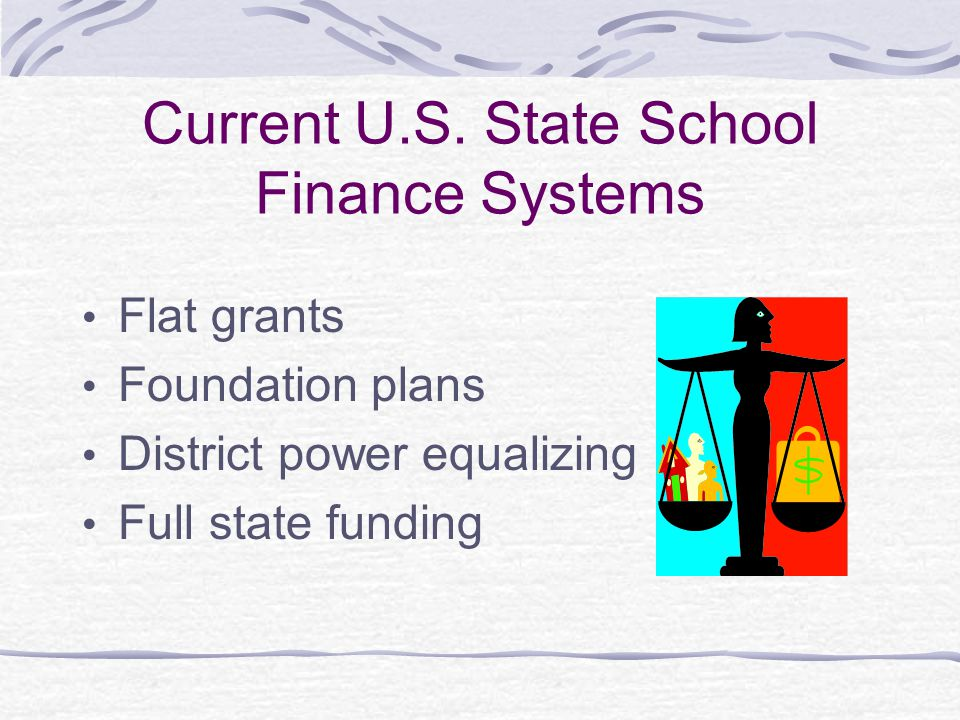 Current U.S. State School Finance Systems