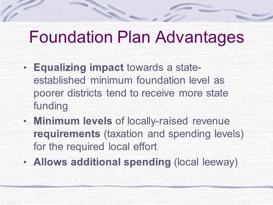 Foundation Plan Advantages