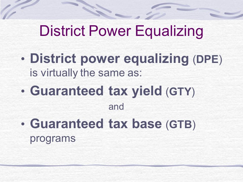 District Power Equalizing