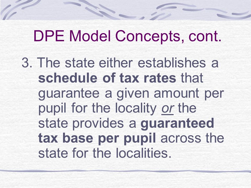 DPE Model Concepts, cont.