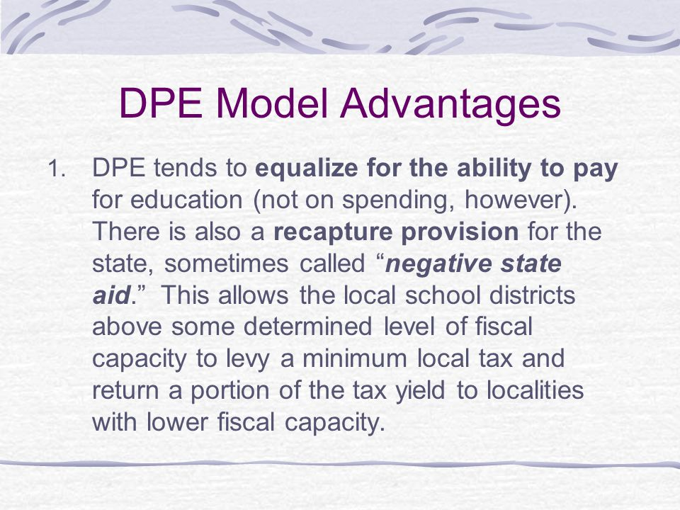 DPE Model Advantages