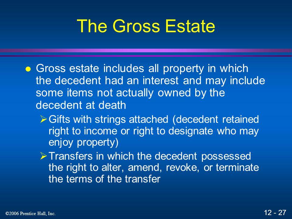 The Gross Estate