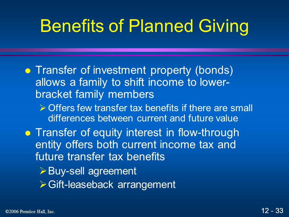 Benefits of Planned Giving
