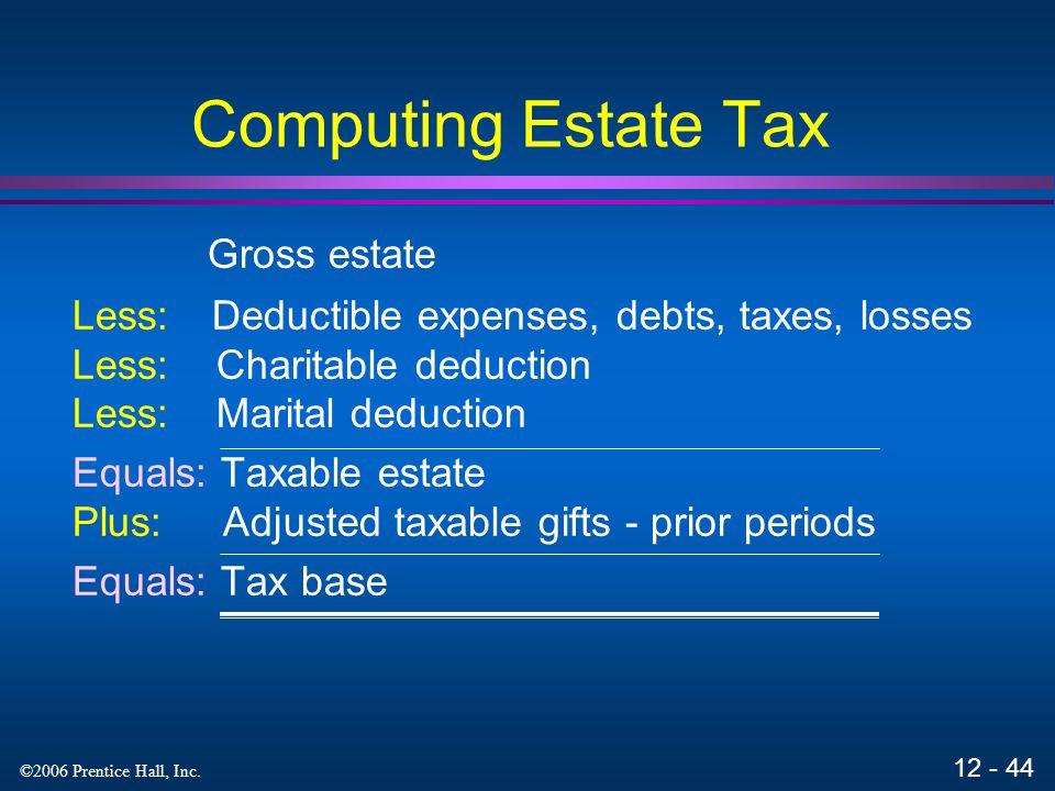 Computing Estate Tax Gross estate