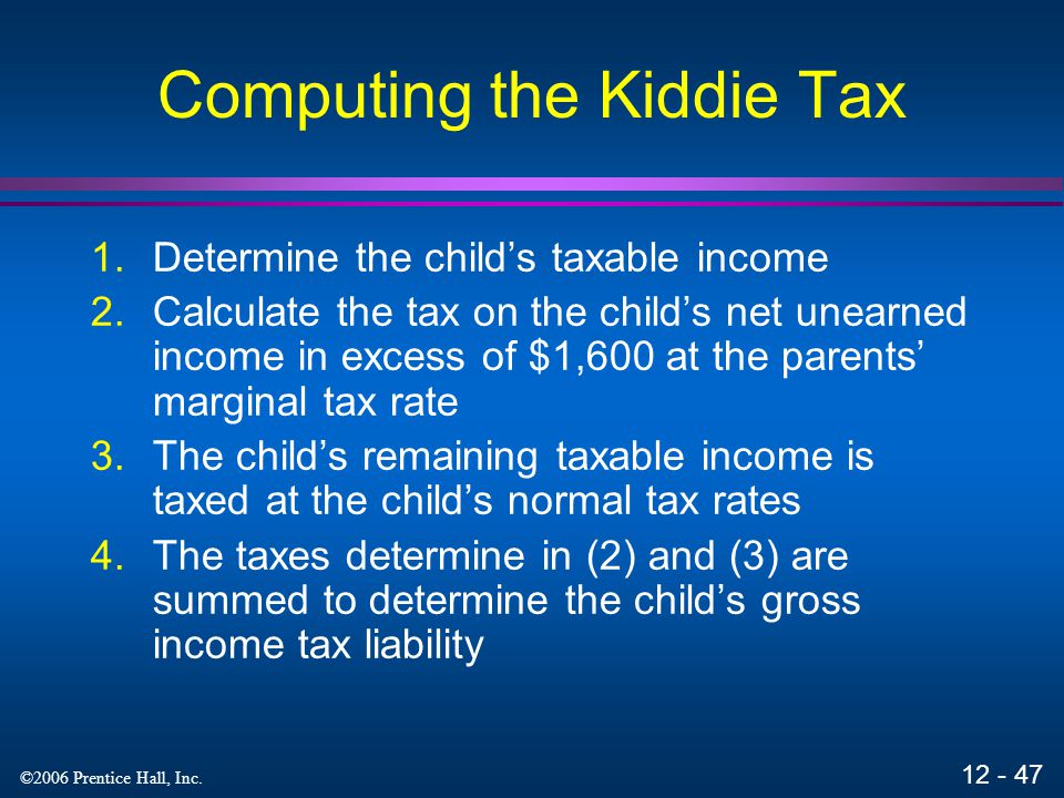 Computing the Kiddie Tax