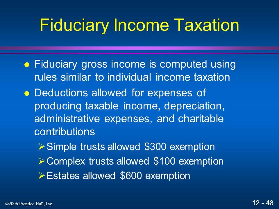 Fiduciary Income Taxation