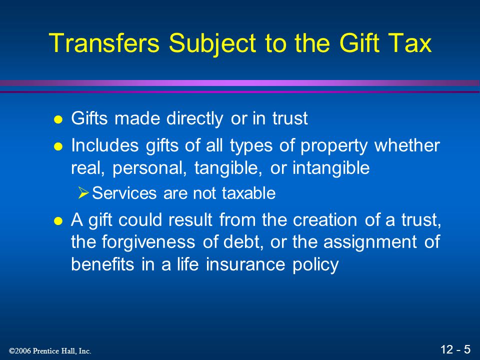 Transfers Subject to the Gift Tax