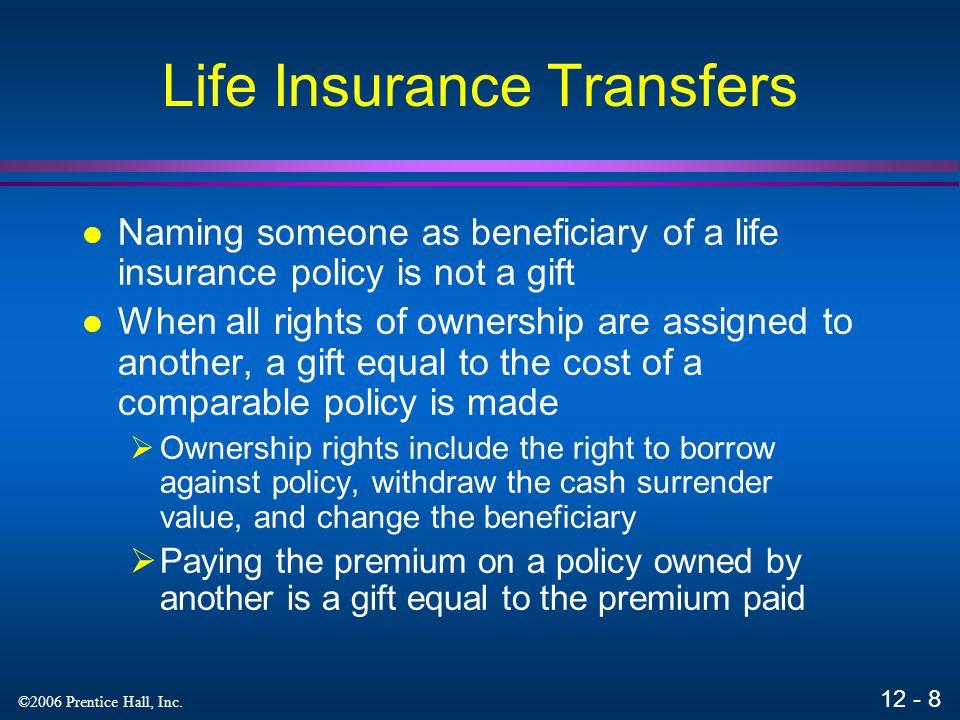 Life Insurance Transfers