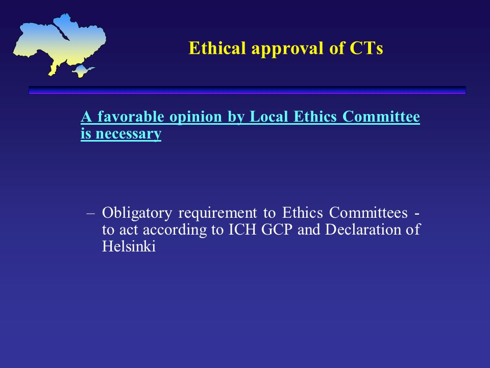 Ethical approval of CTs