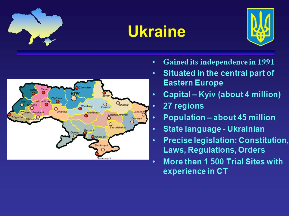 Ukraine Gained its independence in 1991