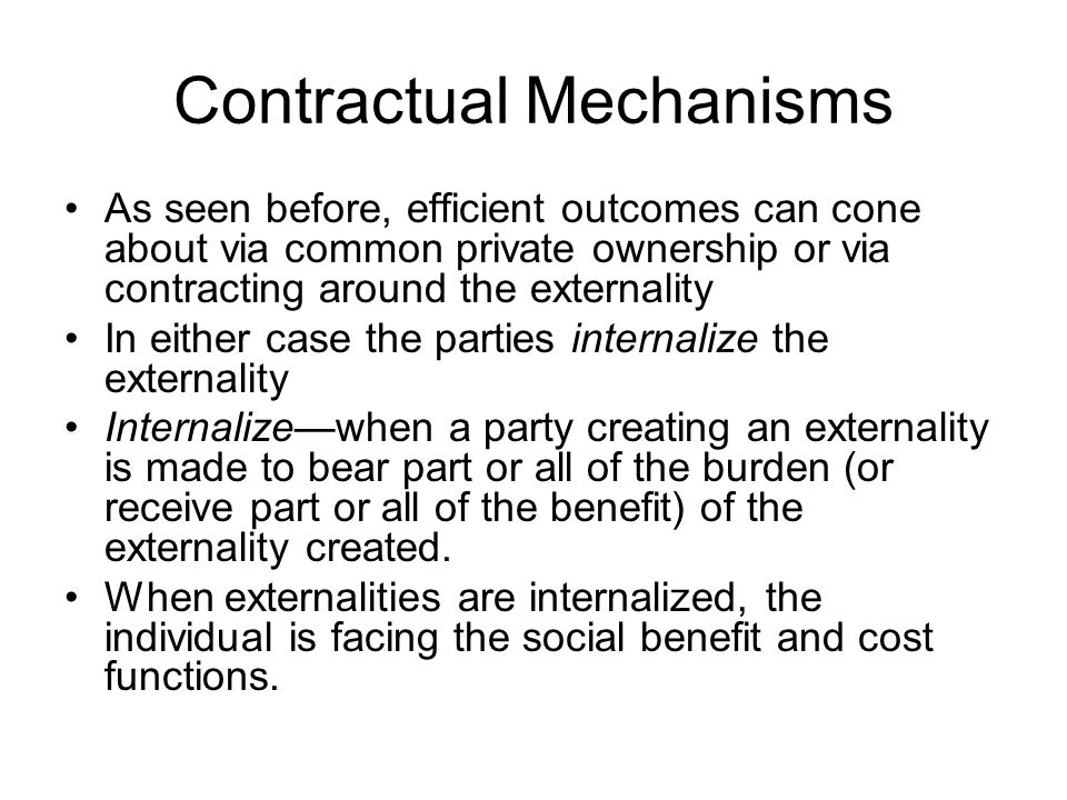 Contractual Mechanisms