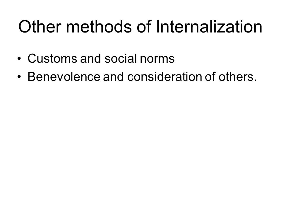 Other methods of Internalization