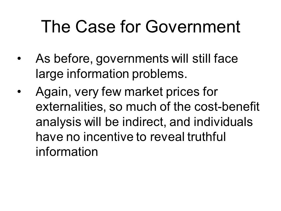 The Case for Government