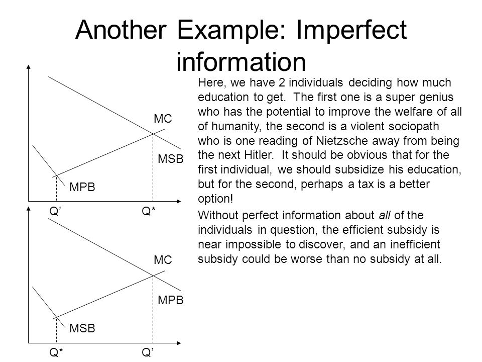 Another Example: Imperfect information