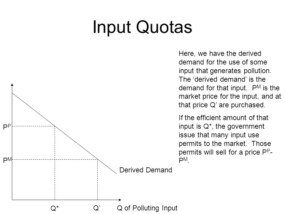 Input Quotas
