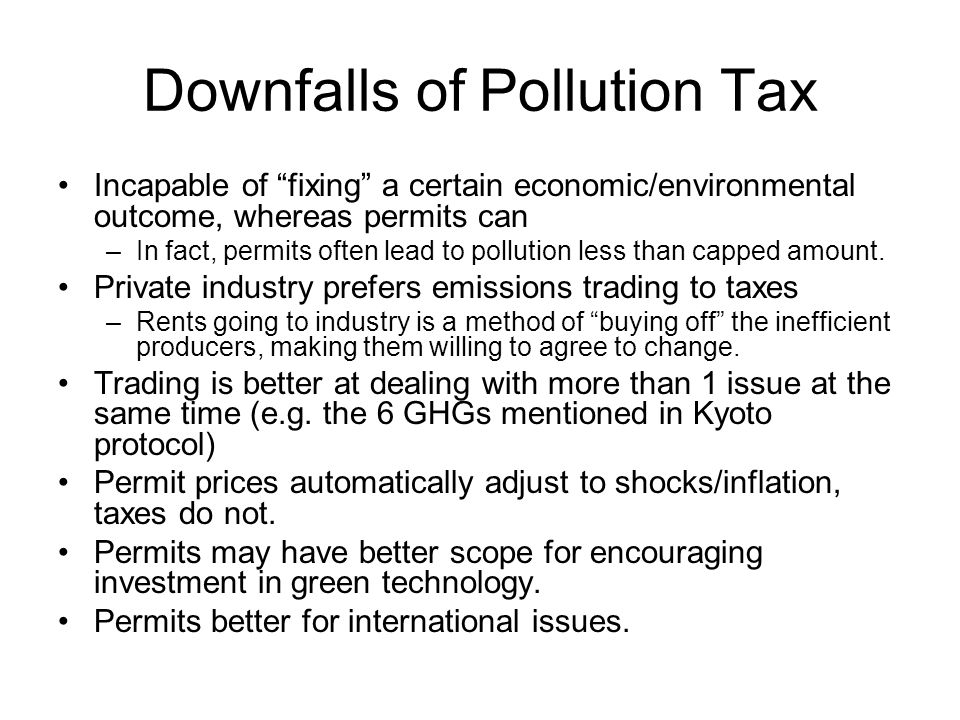 Downfalls of Pollution Tax