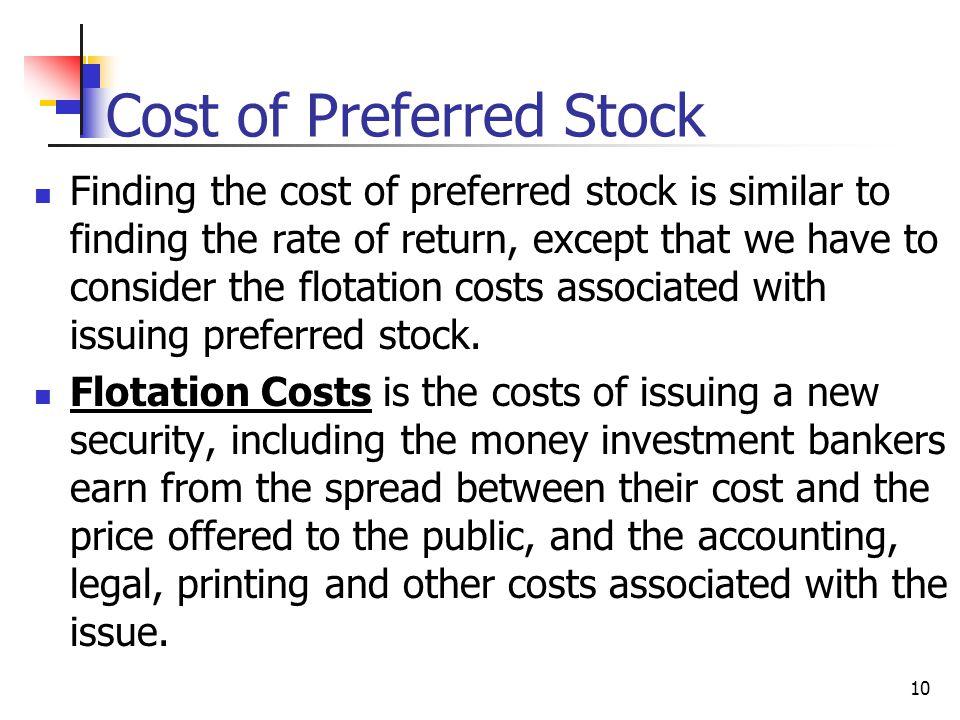 Cost of Preferred Stock