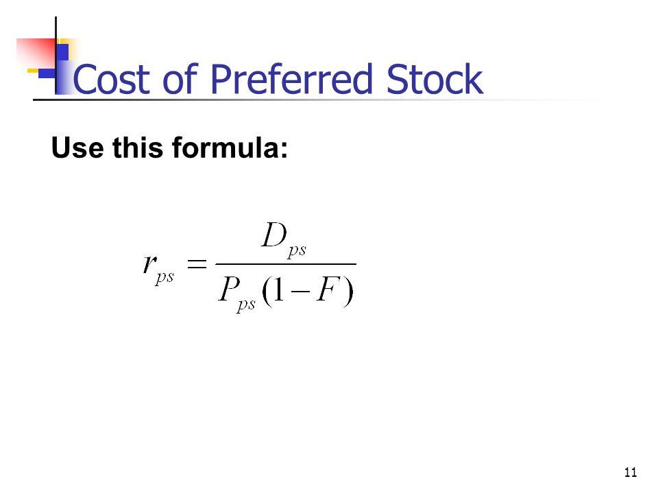 cost of capital formula pdf
