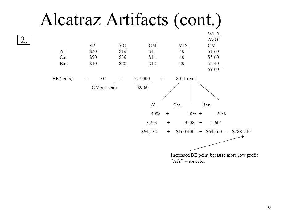 Alcatraz Artifacts (cont.)