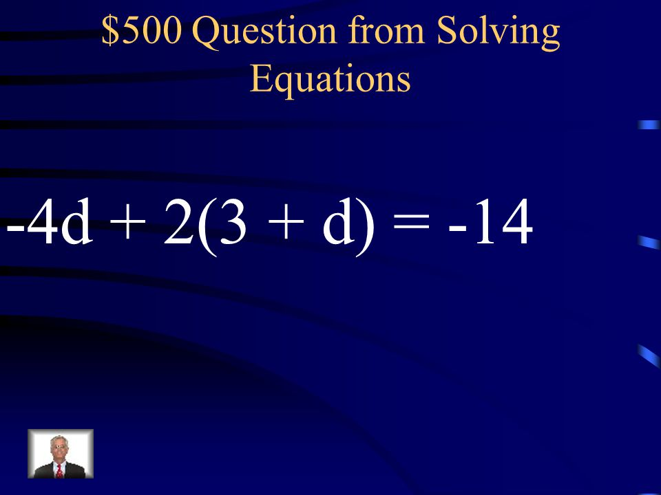 $500 Question from Solving Equations