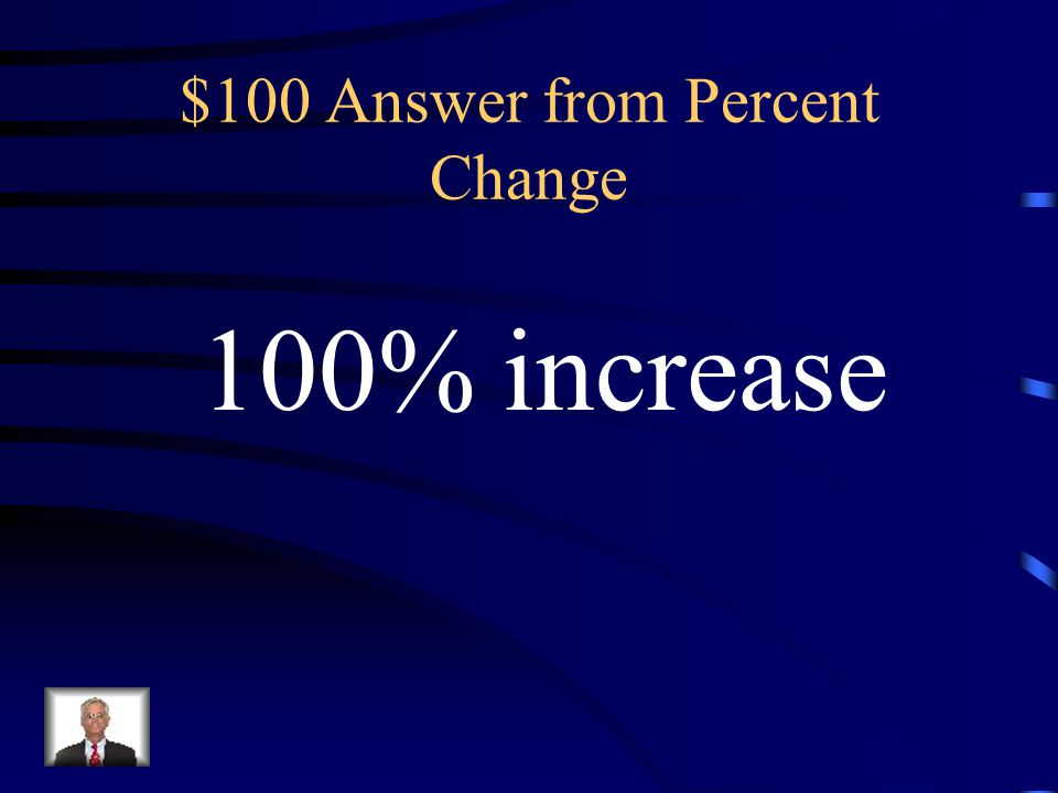$100 Answer from Percent Change