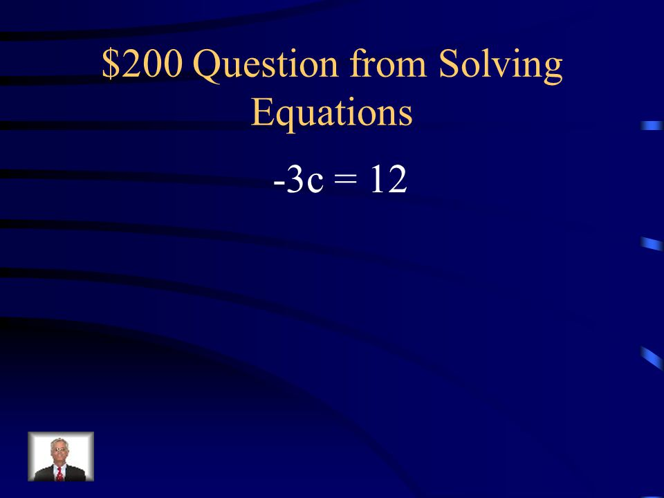 $200 Question from Solving Equations