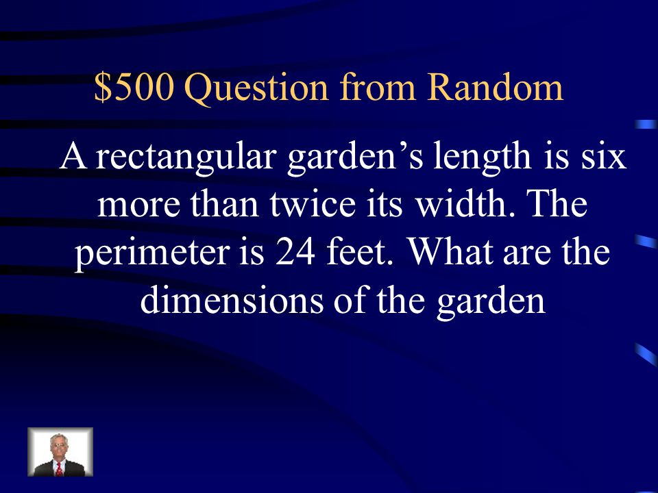 $500 Question from Random