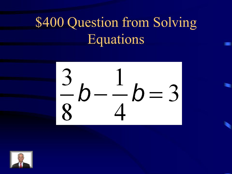 $400 Question from Solving Equations