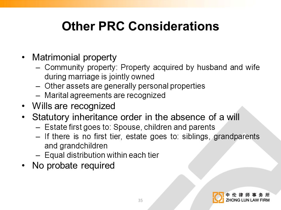 Other PRC Considerations