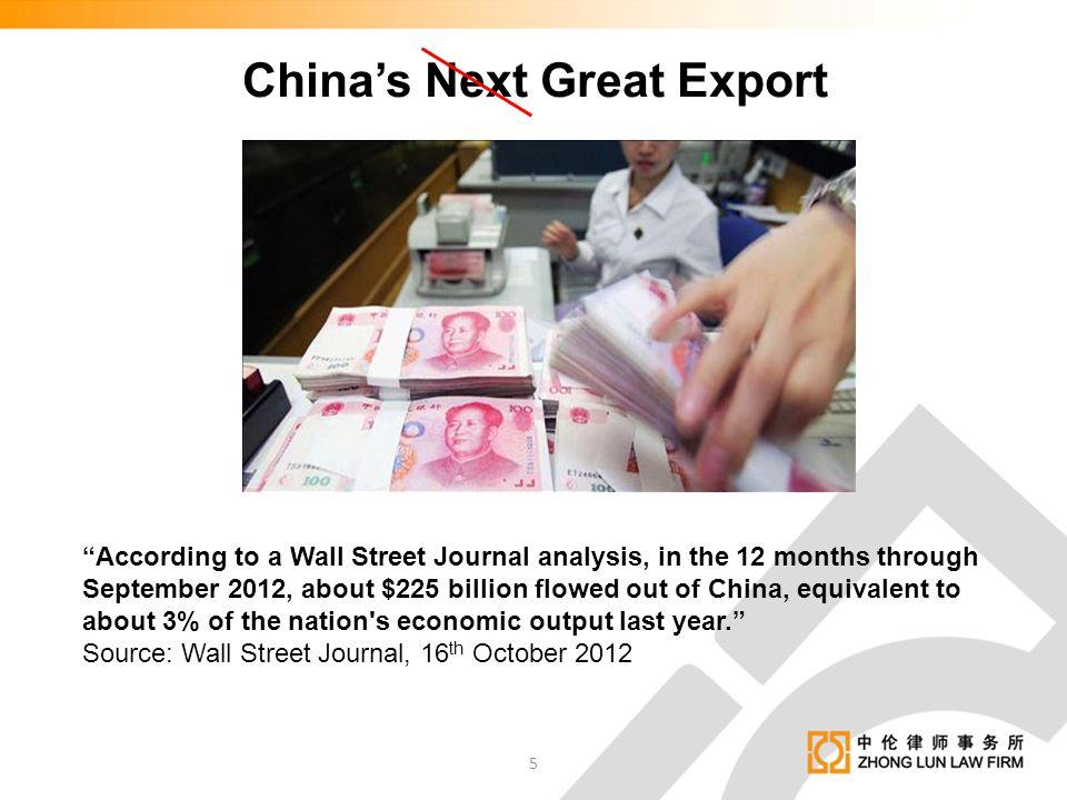 China's Next Great Export