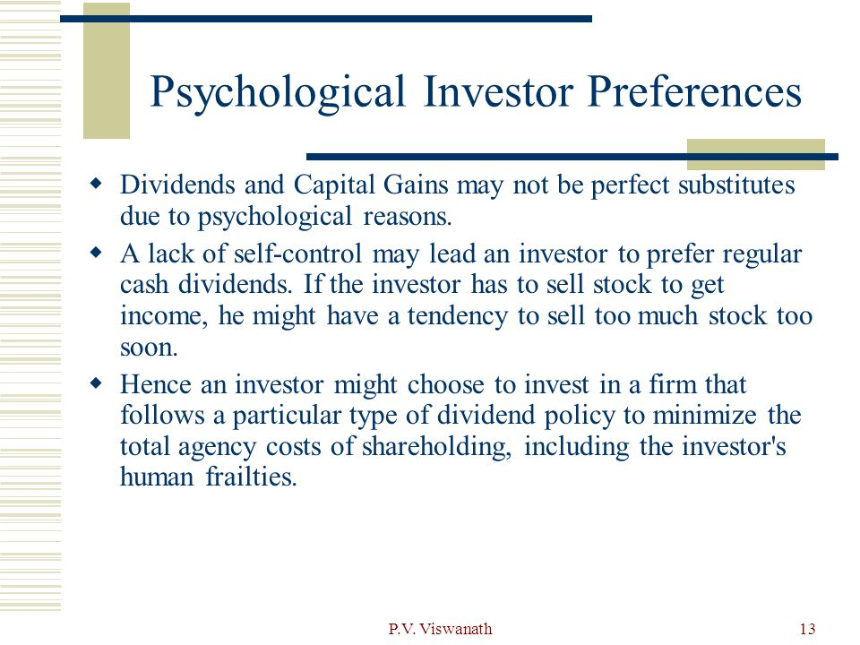 Psychological Investor Preferences