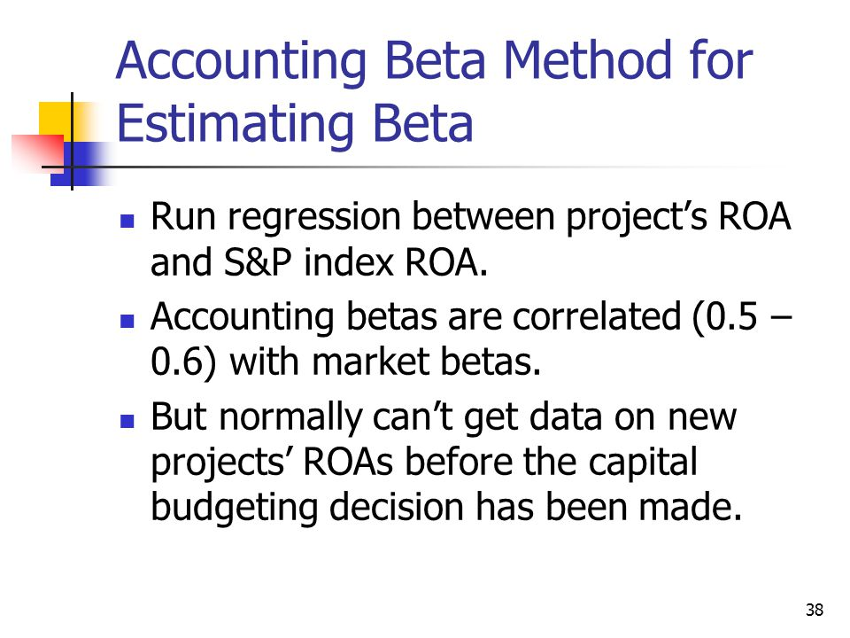 Accounting Beta Method for Estimating Beta
