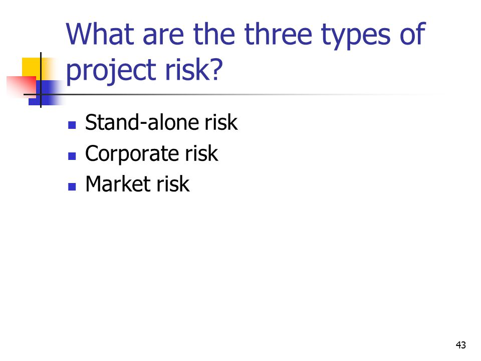 What are the three types of project risk