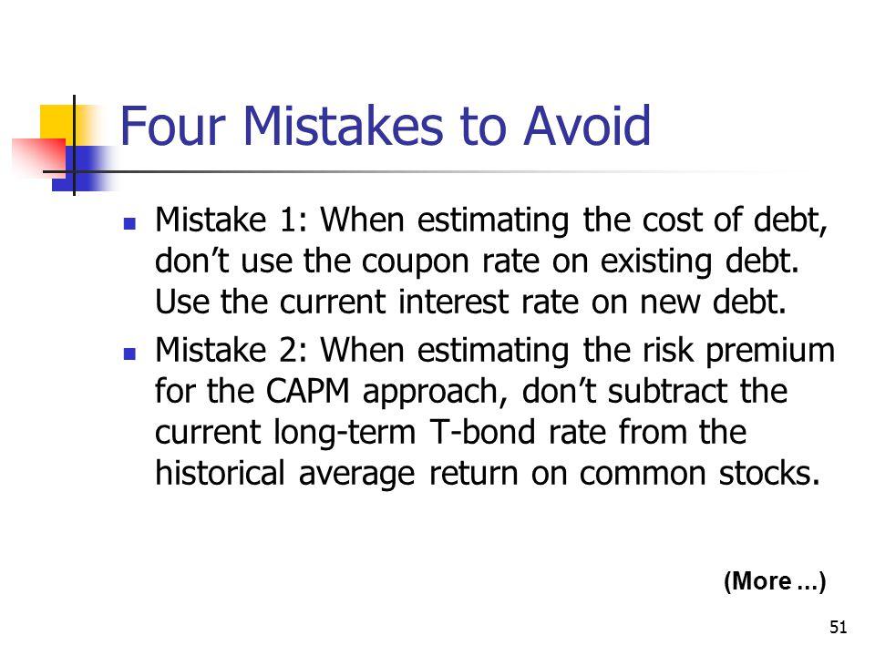 Four Mistakes to Avoid