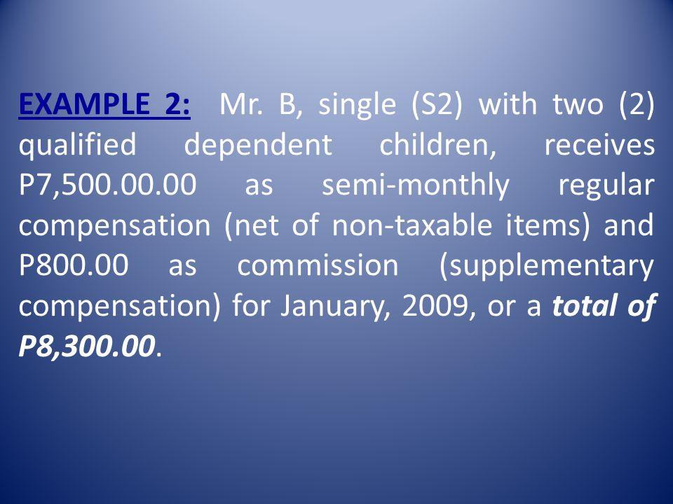 EXAMPLE 2: Mr.