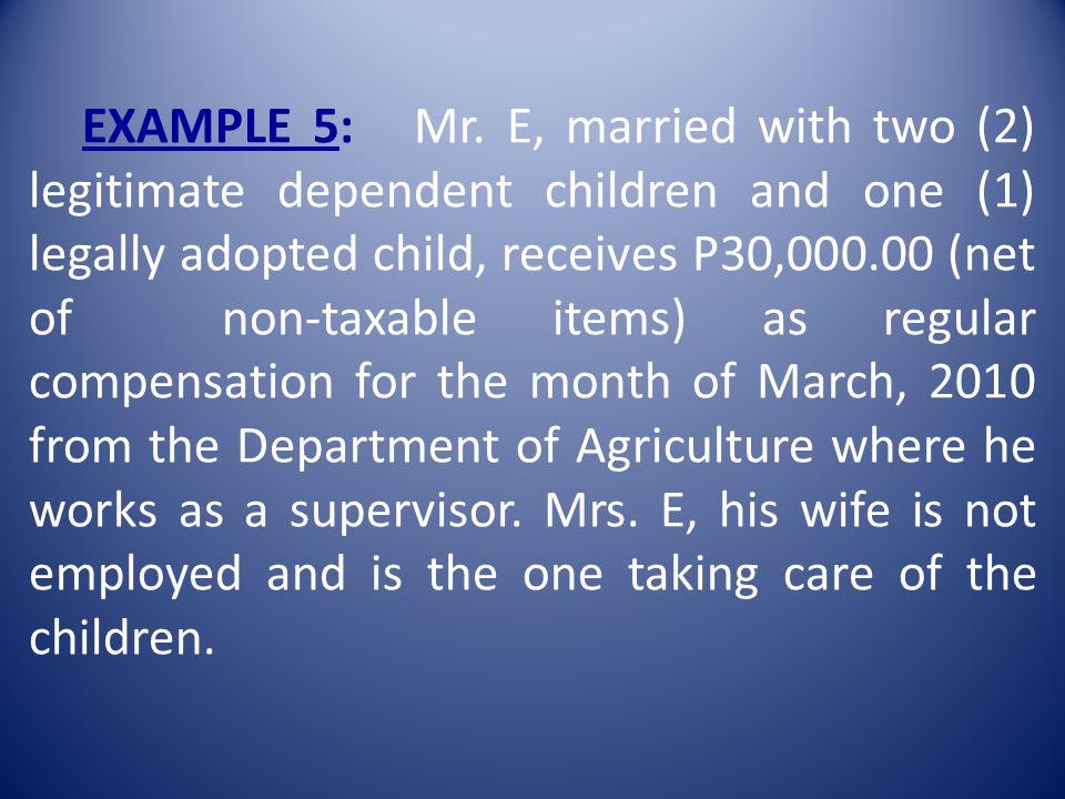 EXAMPLE 5: Mr.