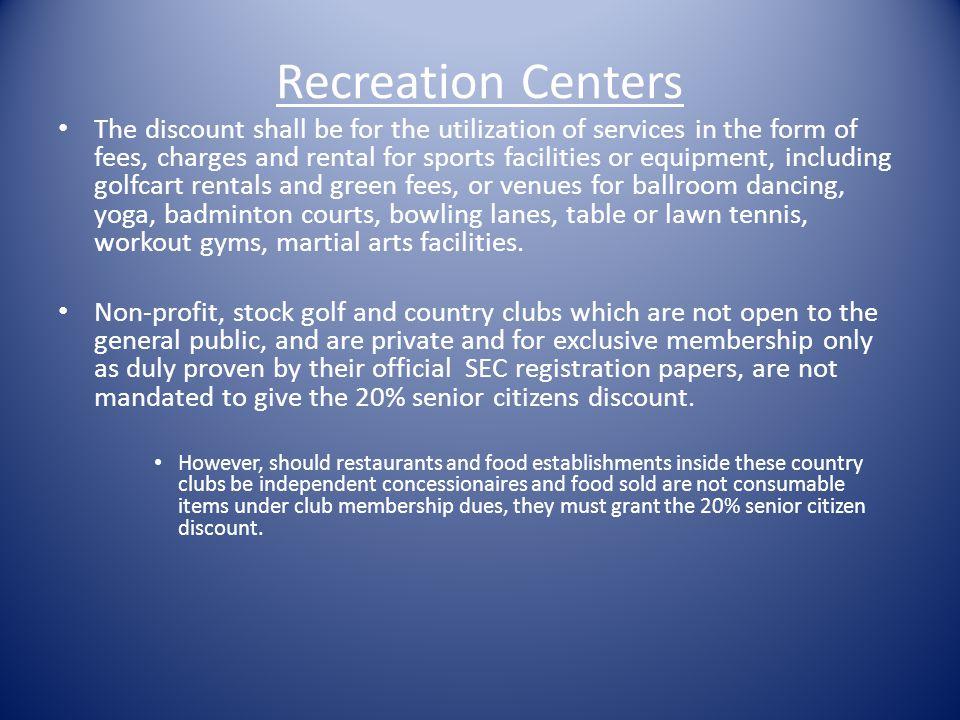 Recreation Centers