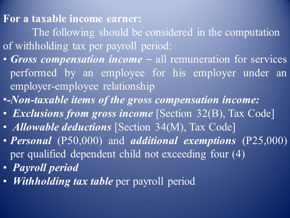 For a taxable income earner: