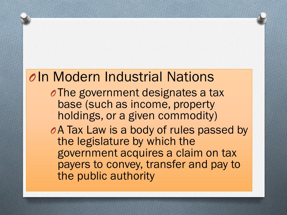 In Modern Industrial Nations