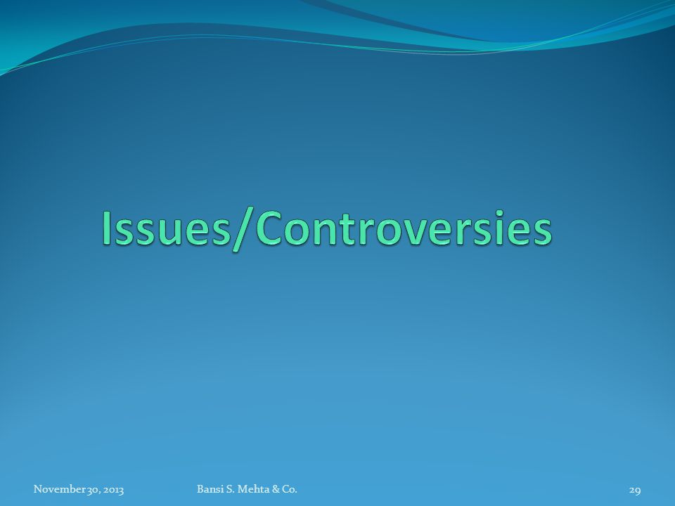 Issues/Controversies