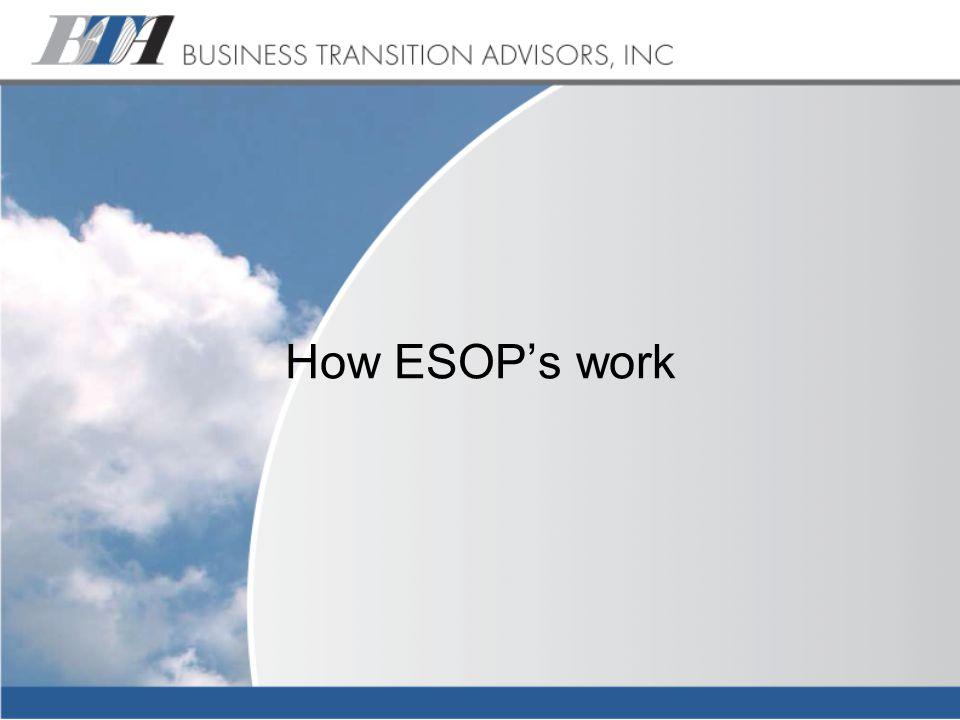 How ESOP's work
