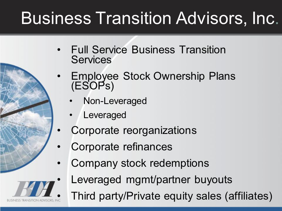 Business Transition Advisors, Inc.