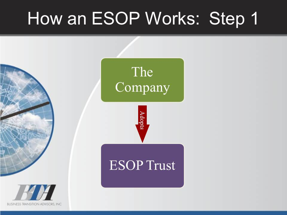 How an ESOP Works: Step 1 The Company Adopts ESOP Trust