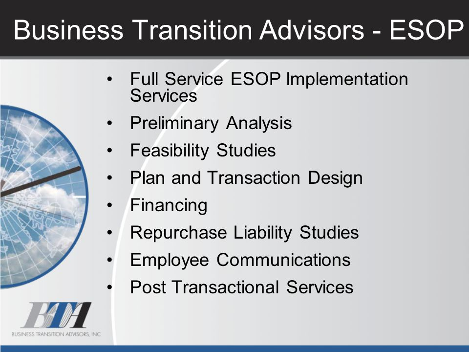 Business Transition Advisors - ESOP