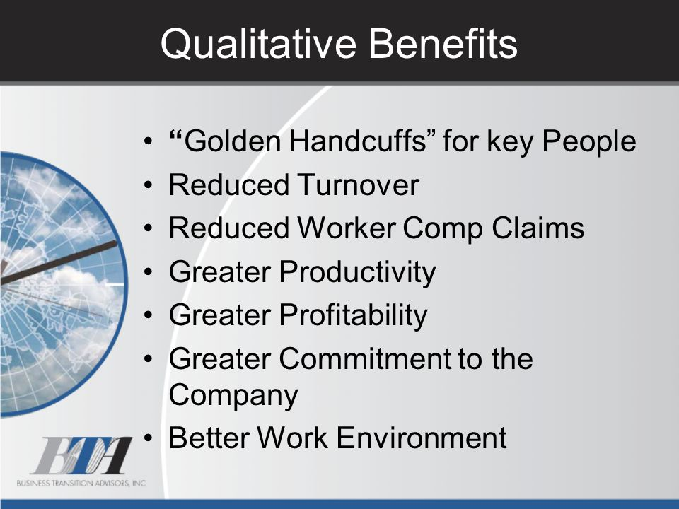 Qualitative Benefits Golden Handcuffs for key People