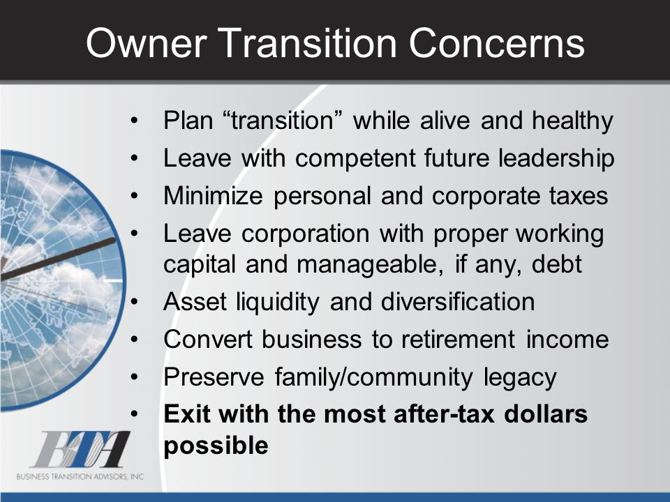 Owner Transition Concerns